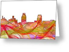 Camden Nj Skyline Greeting Card