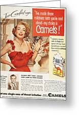 Camel Cigarette Ad, 1951 Greeting Card