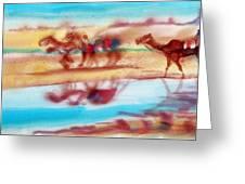 Camel Run Greeting Card
