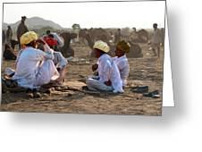 Camel Traders Pushkar Greeting Card
