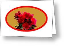 Camellia Bg Gold Greeting Card