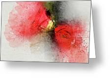 Camellia Burst Greeting Card