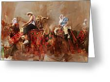 Camels And Desert 14 Greeting Card