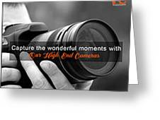 Camera On Rent Greeting Card