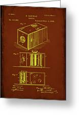 Camera Patent Drawing 1a Greeting Card