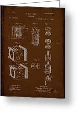 Camera Patent Drawing 2e Greeting Card