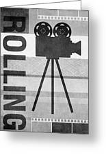 Cameras Rolling- Art By Linda Woods Greeting Card