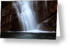 Cameron Falls In Waterton Lakes National Park Of Alberta Greeting Card