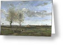 Camille Corot   A Wagon In The Plains Of Artois Greeting Card