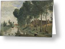 Camille Corot   Landscape At Arleux Du Nord Greeting Card