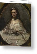 Camille Corot   Sketch Of A Woman In Bridal Dress Greeting Card
