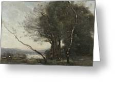 Camille Corot   The Leaning Tree Trunk Greeting Card