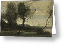 Camille Corot   The Wood Gatherer Greeting Card