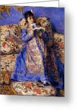 Camille Monet Reading 1872 Greeting Card