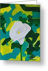 Camo Calla Lilly Greeting Card
