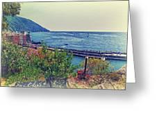 Camogli, Panorama Of The Sea. Greeting Card