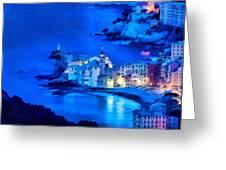 Camogli Sunrise - Camogli All'alba Paint1 Greeting Card