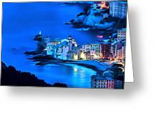 Camogli Sunrise - Camogli All'alba Paint2 Greeting Card