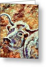 Camouflage Cow Art Greeting Card