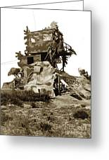 Camouflage Observation Tower Near Asilomar And The Point Pinos Lighthouse 1941 Greeting Card
