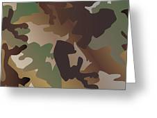 Camouflage Pattern Background  Clothing Print, Repeatable Camo G Greeting Card