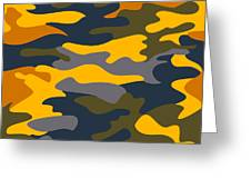 Camouflage Pattern Background Seamless Clothing Print, Repeatabl Greeting Card