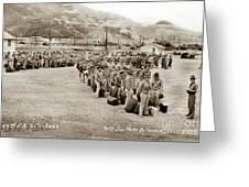 Camp San Luis Obispo Army Base 40th Division Photo 143rd Field Artillery 1941 Greeting Card