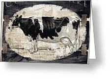 Campagne I French Cow Farm Greeting Card