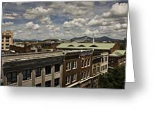 Campbell Avenue Rooftops Roanoke Virginia Greeting Card