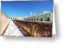 Campeche Wall And City View Greeting Card