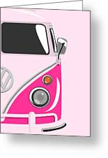 Camper Pink 2 Greeting Card by Michael Tompsett