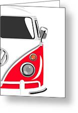 Camper Red 2 Greeting Card by Michael Tompsett