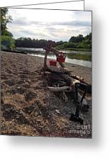 Campfire Cooking Soon - Indiana Canoeing Greeting Card