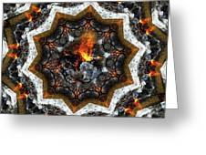 Campfire Flame Greeting Card