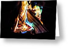 Campfire In July Greeting Card