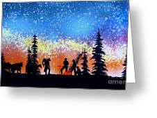 Campfire Tales Greeting Card