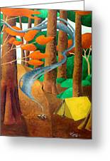 Camping - Through The Forest Series Greeting Card