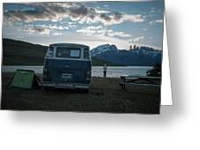 Camping At Torres Del Paine Greeting Card