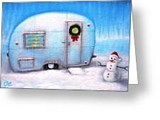 Camping Christmas  Greeting Card