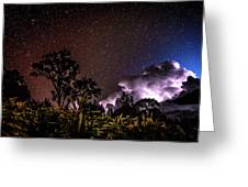 Camping On The Volcano Greeting Card