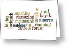 Camping Subway Art Greeting Card