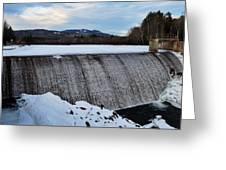 Campton Pond Dam  Greeting Card