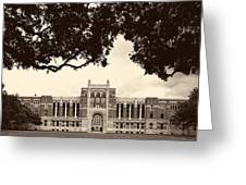 Campus Of Rice University Greeting Card