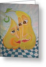 Can I Just Stay Near You?  Pear Love Greeting Card