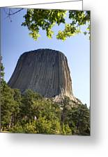 Can You Find The Climbers On Devils Tower Wyoming -1 Greeting Card