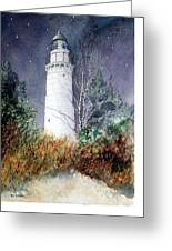 Cana Island Light House Greeting Card