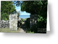 Cana Island Walkway Wi Greeting Card