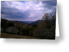 Canaan Valley Cloudy Sky Greeting Card