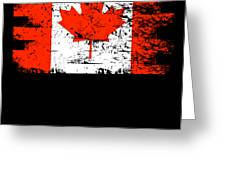 Canada Flag Gift Country Patriotic Travel Shirt Americas Light Greeting Card