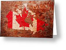 Canada Flag Map Greeting Card